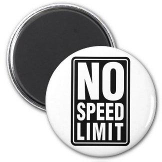 No Speed Limit 2 Inch Round Magnet