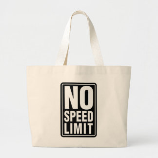 No Speed Limit Canvas Bag