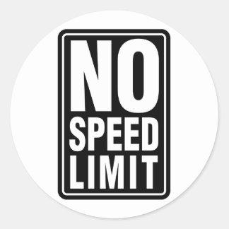 No Speed Limit Classic Round Sticker