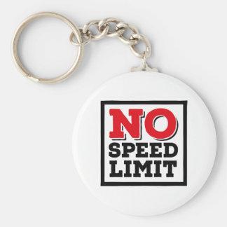 No Speed Limit Keychain