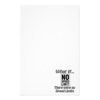 No Speed Limit Stationery