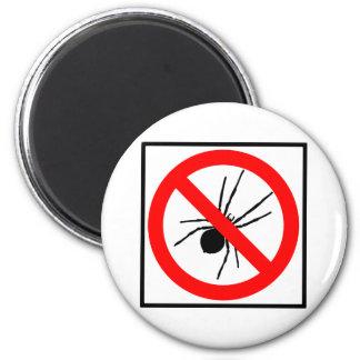 No Spiders Highway Sign 2 Inch Round Magnet