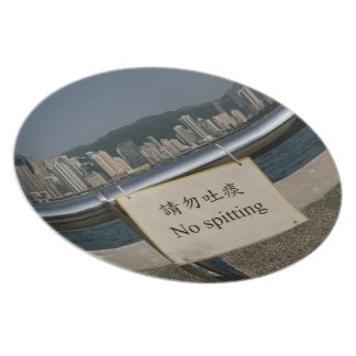 No Spitting Dinner Plate