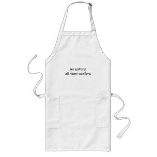 No spitting long apron