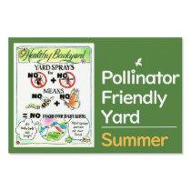 No Spray -Pollinator Friendly Yard Sign