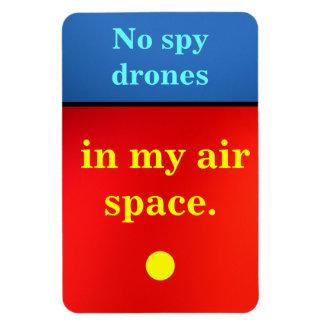 No Spy Drones Magnet