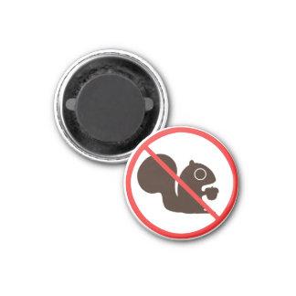 No Squirrels 1 Inch Round Magnet