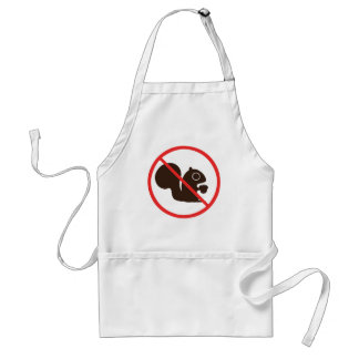 No Squirrels Adult Apron
