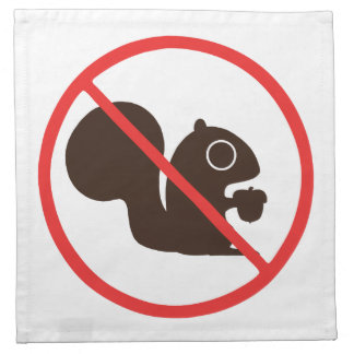 No Squirrels Printed Napkin