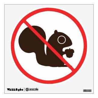 No Squirrels Wall Sticker