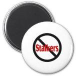 No Stalkers 2 Inch Round Magnet