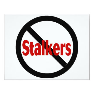 No Stalkers Card