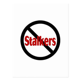 No Stalkers Postcard
