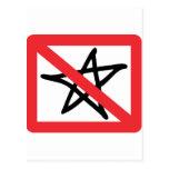 No Stars Postcard