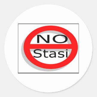 No Stasi Classic Round Sticker