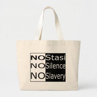 No Stasi, No Silence, No Slavery Canvas Bags