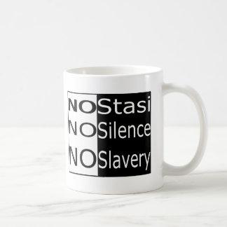 No Stasi, No Silence, No Slavery Classic White Coffee Mug