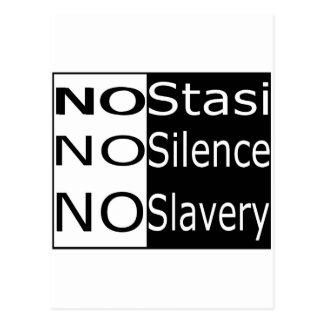 No Stasi, No Silence, No Slavery Postcard