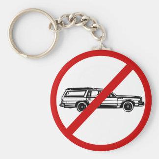 no-station-wagons basic round button keychain