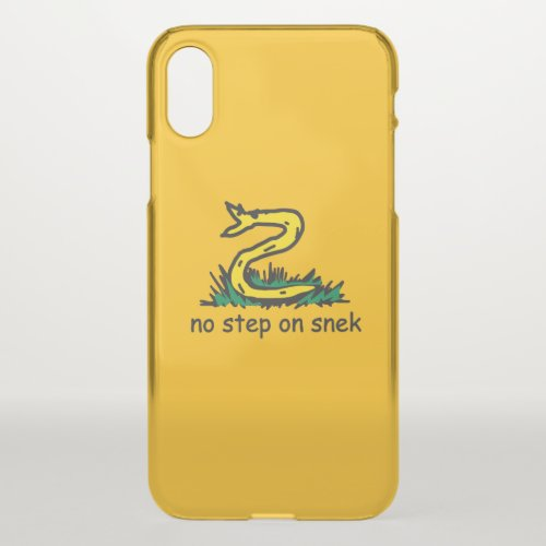 No step on snek memes Gadsden parody SnekRight Phone Case