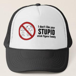 No Stick Figure Kids Trucker Hat
