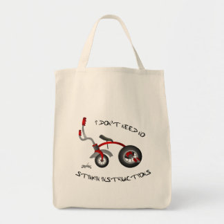No Stinkin Instructions Grocery Tote Bag