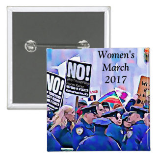 No! Stop Trump & Pence, Women's March for equality Pinback Button