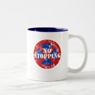 No Stopping (worn look) Two-Tone Coffee Mug