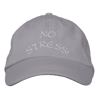 NO STRESS! EMBROIDERED BASEBALL CAP