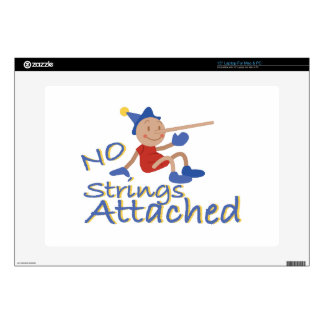 No Strings Laptop Decals