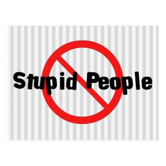 No Stupid People Postcard