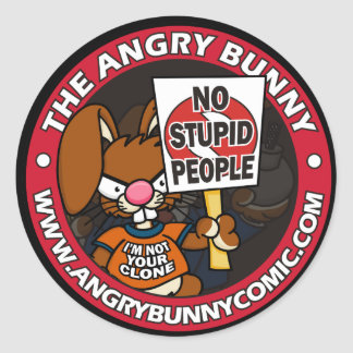 No Stupid People Stickers