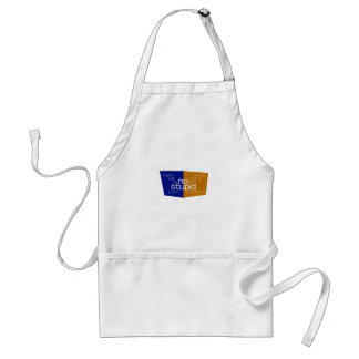 No Stupid Users blue gold Adult Apron
