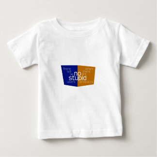 No Stupid Users blue gold Baby T-Shirt