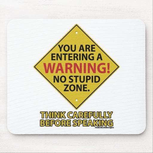 No Stupid Zone Mouse Pad