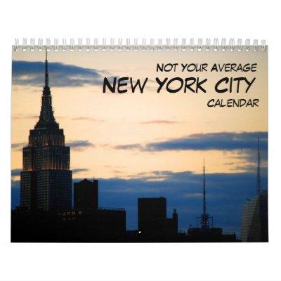 No su calendario medio de New York City