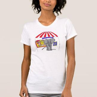 No su camiseta del elefante del circo del
