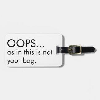 No su etiqueta del equipaje del bolso etiquetas de maletas