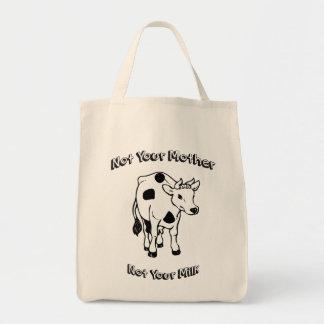 No su madre - no su leche bolsa tela para la compra