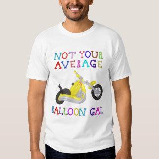 No su motocicleta media del globo del galón del remera