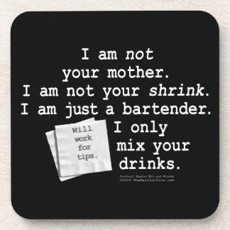 No su práctico de costa del corcho del camarero de posavasos de bebida
