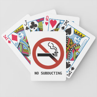 No Subducting Logo Playing Cards