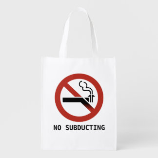 No Subducting Logo (Two-Sided) Reusable Grocery Bag