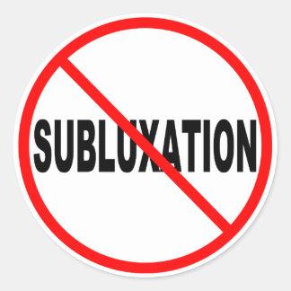 No Subluxation Stickers