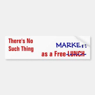 """No Such Thing"" Anti-Capitalist bumpersticker Car Bumper Sticker"