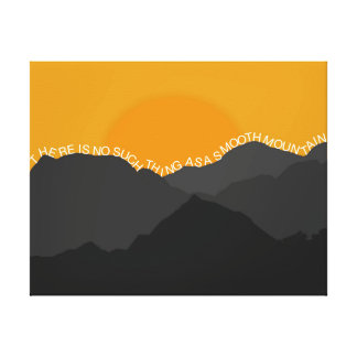 No Such Thing As A Smooth Mountain Canvas Print