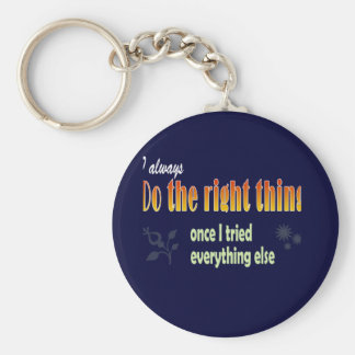 No such thing as perfect people basic round button keychain
