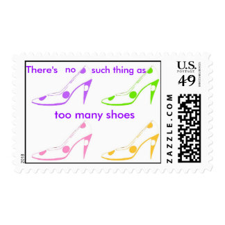 No Such Thing as Too Many Shoes pastel Postage