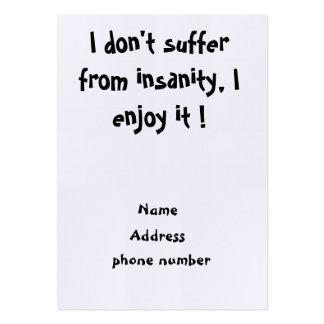 No sufro de tarjetas del locura-negocio tarjeta de visita