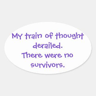 No Survivors Oval Sticker